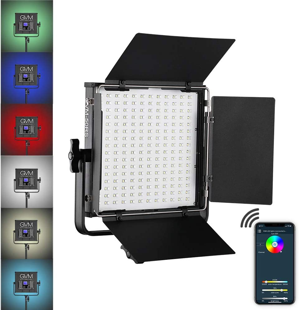 GVM 50RS RGB Video In stock Light Gorgeous Full APP Control Color Output 32 CRI97+