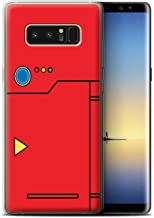 Phone Case for Samsung Galaxy Note 8/N950 Anime Cartoon Codex Red Design Transparent Clear Ultra Soft Flexi Silicone Gel/TPU Bumper Cover