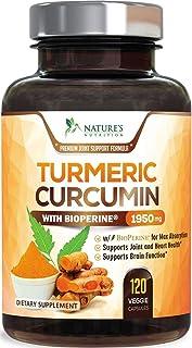 Turmeric Curcumin with BioPerine 95% Curcuminoids 1950mg with Black Pepper for Best Absorption, Made in USA, Natural Immun...
