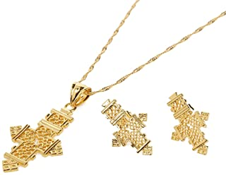Best Quailty 22k Gold Plated African Jewelry for Ethiopian Women Gifts