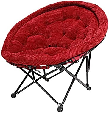Carl Artbay Footstool Crimson Seat Cover Folding Chair Individual Moon Chair Lounge Chair Lunch Break Sleeping Couch Home