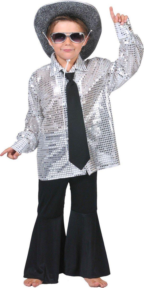 Camisa disco plateado niño - 10-12 años: Amazon.es: Juguetes y juegos