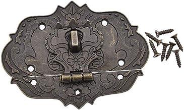 1 Set Retro Sieraden Box Spoeltje Lock Vergrendeling, Houten Box Cabinet Klink, Met Schroeven, Hardware Decoratie Hulpmidd...
