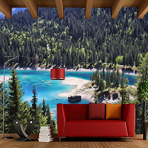 Muursticker woonkamer slaapkamer sofa achtergrond decoratie behang aangepaste 3D alpine lak muurschildering 200 x 140 cm.