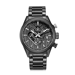 T5 H3628G-D Round Stainless Steel Analog Watch for Men - Black