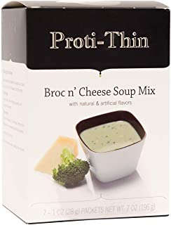 Proti-Thin - High Protein Diet Soup - Low Calorie - Low Carb - Low Sugar - Broc N Cheese (7/Box)