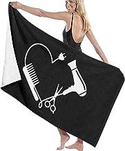Jxrodekz Hairdresser Hairstylist Beach Towel 80x130cm Soft Lightweight Absorbent for Bath Swimming Pool Yoga Pilates Picnic Blanket Towels