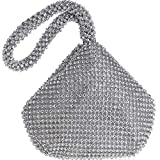 Bolsos Mujer Soft Beaded Women Evening Bags Cover Open Style Lady Wedding Bridalmaid Handbags Purse Bag Gift Clutch Ym1217Silver