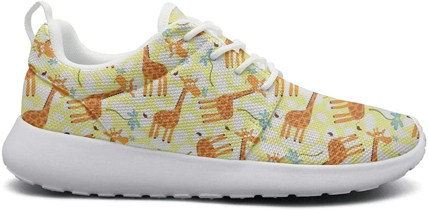 Wear-Resistant Sports Sneaker Cartoon Giraffe Animal Funny Attractive Women Light Track Running shoes