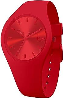 Ice-Watch - Ice Colour Spicy - Montre Rouge Mixte avec Bracelet en Silicone - 017912 (Medium)