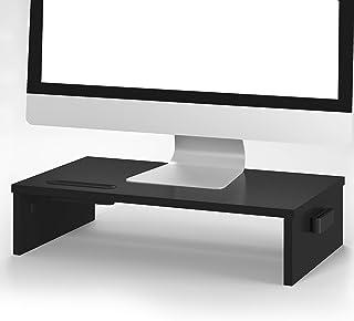 BONTEC Soporte Monitor Elevador Monitor Alzador Pantalla Ordenador de Portátil Ordenador Negro, W420 x D235 x H104 con Sop...