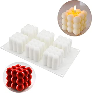 6 Cavity Cube Mold, Silicone Mold for Baking Chocolate Cake, 3D Dessert Mould for Pastry Mousse Dessert Trifle Pudding Jel...