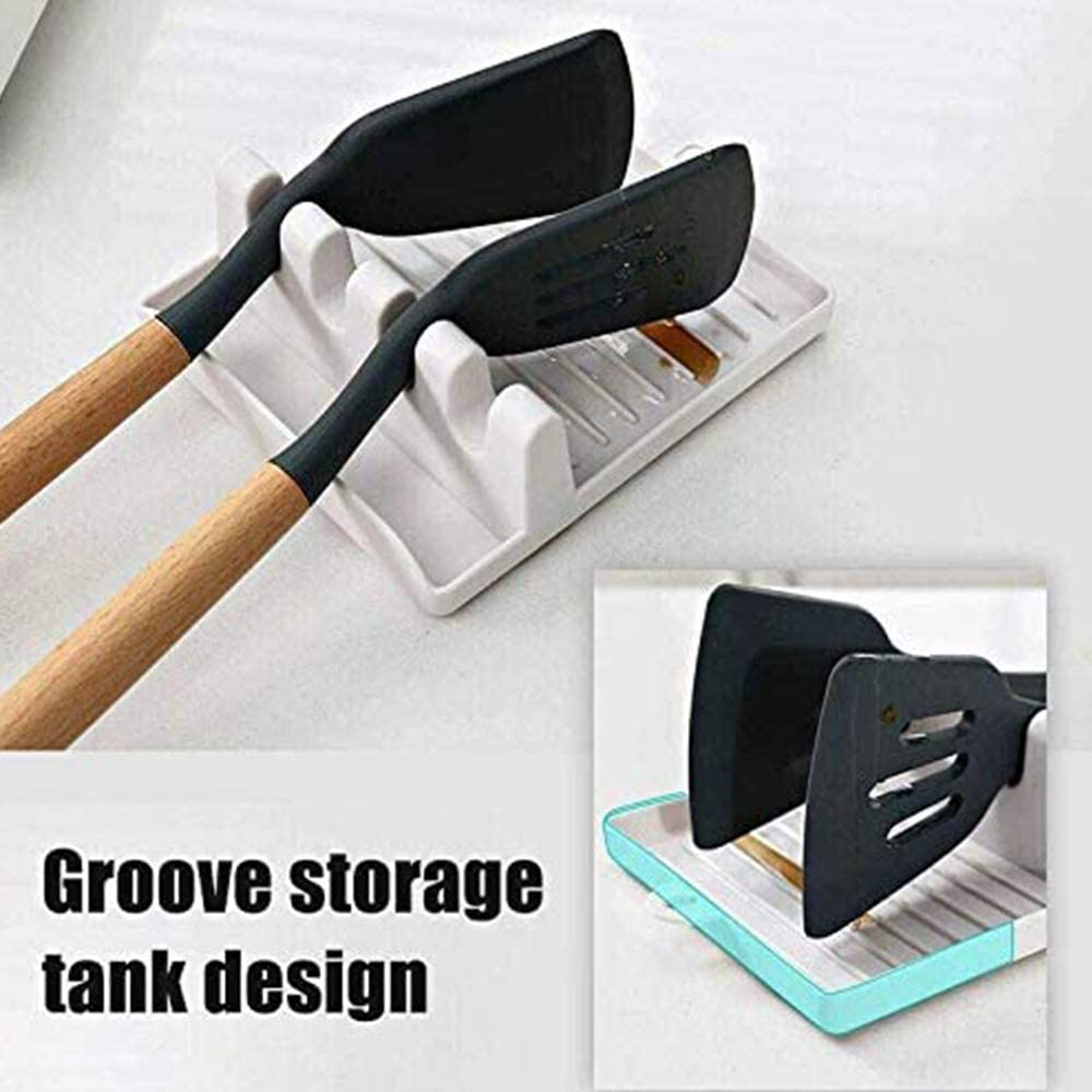 Spoon Spatula Ladle Fork Holder,Non Slip Heat Resistant Cooking Tools adshi Multifunction Kitchen Spatula Rack Green 2PCS Cooking Utensil Holder Non Drip