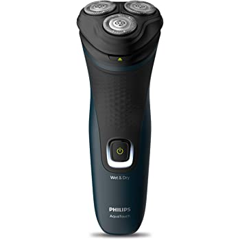 Philips Electric Shaver S1121/45, 3D Pivot & Flex Heads, 27 Comfort Cut Blades, Up to 40 Min of Shaving