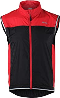 Tofern Unisex Windproof Lightweight Reflective Safety Sleeveless Vest for Cycling Bike Sports Running