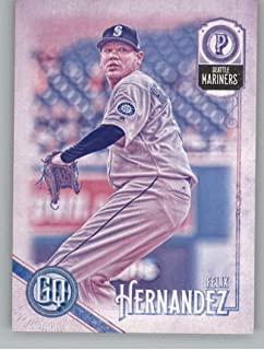 2018 Topps Gypsy Queen Missing Black Plate Baseball #122 Felix Hernandez Seattle Mariners Official MLB Trading Card From Topps