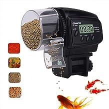 HomdMarket LCD Alimentador Automático de Peces, Dispensador de Comida Acuario, Alimentador Automático de Peces para Acuario con LCD Pantalla e Temporizador para Acuario Pescado