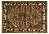 Lifetex.eu Teppich Täbriz Mahi mit Seide ca. 170 x 245 cm Braun handgeknüpft Schurwolle mit Seide (<5%) Klassisch hochwertiger Teppich