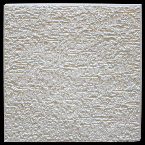 10 qm | Deckenplatten | EPS | formfest | Marbet | 50x50cm | Terra