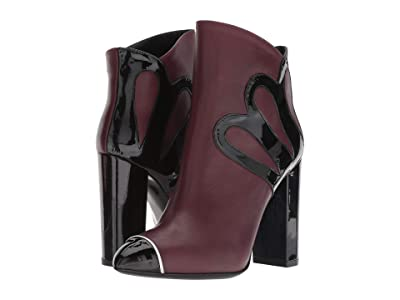 Racine Carree Nappa 105mm Pointed Toe Bootie (Burgundy/Black) Women