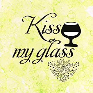 Aluminum Metal Sign Funny Kiss My Glass Funny & Novelty Novelty Square Wall Art - Yellow Bubbles, 12