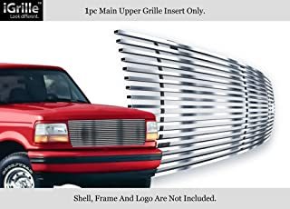 APS Stainless Steel 304 Billet Grille Compatible with 1992-1996 Ford Bronco F-150 F-250 F-350 Polished Chrome F85007S