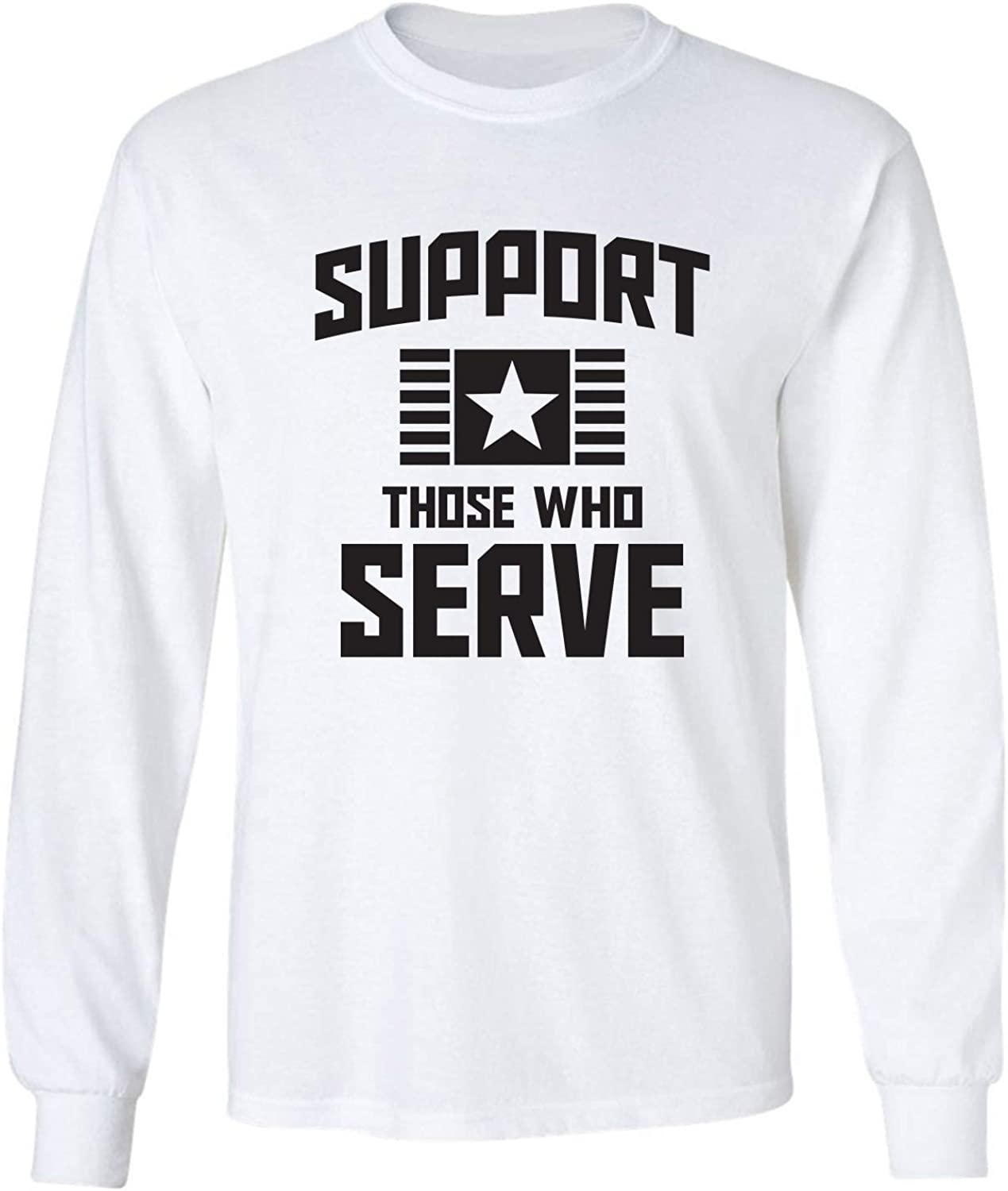 zerogravitee Support Those Who Serve Adult Long Sleeve T-Shirt