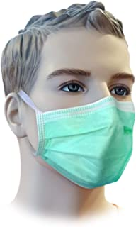 NUVO MEDSURG Disposable Filter Face Mask 4 Ply With TIE - 100 Pcs (Green color)