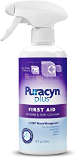 Puracyn Plus Wound and Skin Cleanser – Wound Care Spray for cuts, scrapes, minor sores, minor burns, and other skin irrita...