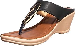 Khadims Women Black Casual Heel Sandal