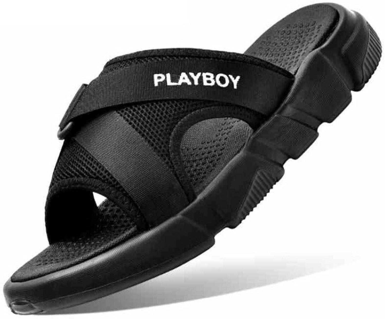 CHENGXIAOXUAN Men's Slippers Flip-Flops Korean Thick Sole Non-Slip Outdoor Sandals Boy Casual Sandals Cross Strap Slip Sandals