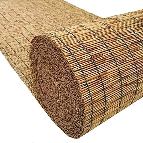 WXZX Persianas De Bambú De Caña, Color Natural Toldo Vertical, Cortina Enrollable De Madera, Las Sombras Hacen Que La Gente Se Sienta Bien, Montaje Sin Perforación