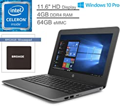 """HP Stream 11 Pro G5 11.6"""" Laptop Computer for Business or Education_ Intel Celeron N4000 up to..."""