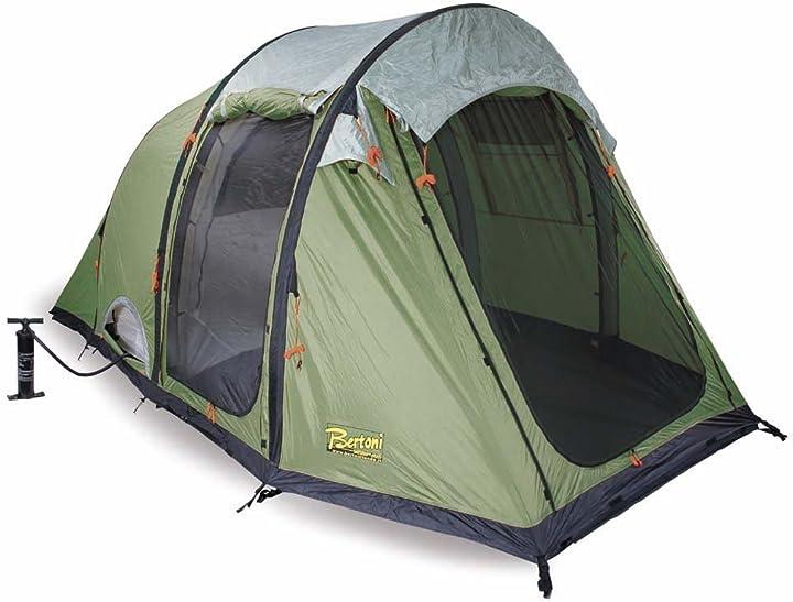 Tenda da campeggio bertoni tende smart 5 air tenda da campeggio pneumatica, verde bosco, taglia unica AUT313