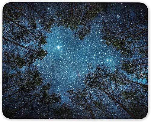 Alfombrilla para ratón, Cielo Nocturno, Alfombrilla para ratón, Estrellas, árboles, Bosque, Camping, diversión, Regalo, Ordenador PC