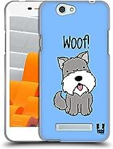 Head Case Designs Schnauzer Happy Puppies Soft Gel Case Compatible for Wileyfox Spark/Plus