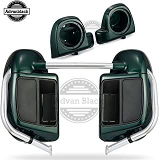 Deep Jade Pearl Rushmore Lower Vented Fairings Kit 6.5 inch Speaker Pods For Harley Touring Road Glide Street Glide Road King Electra Glide 2014 2015 2016 2017 2018