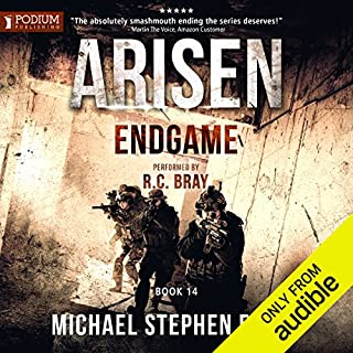 Endgame     Arisen series, Book 14              Written by:                                                                                                                                 Michael Stephen Fuchs                               Narrated by:                                                                                                                                 R.C. Bray                      Length: 18 hrs and 51 mins     33 ratings     Overall 4.8