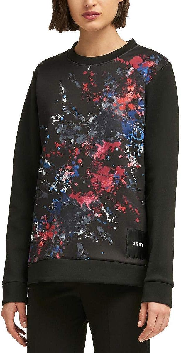 DKNY Womens The Everywhere Sweatshirt, Black, Small