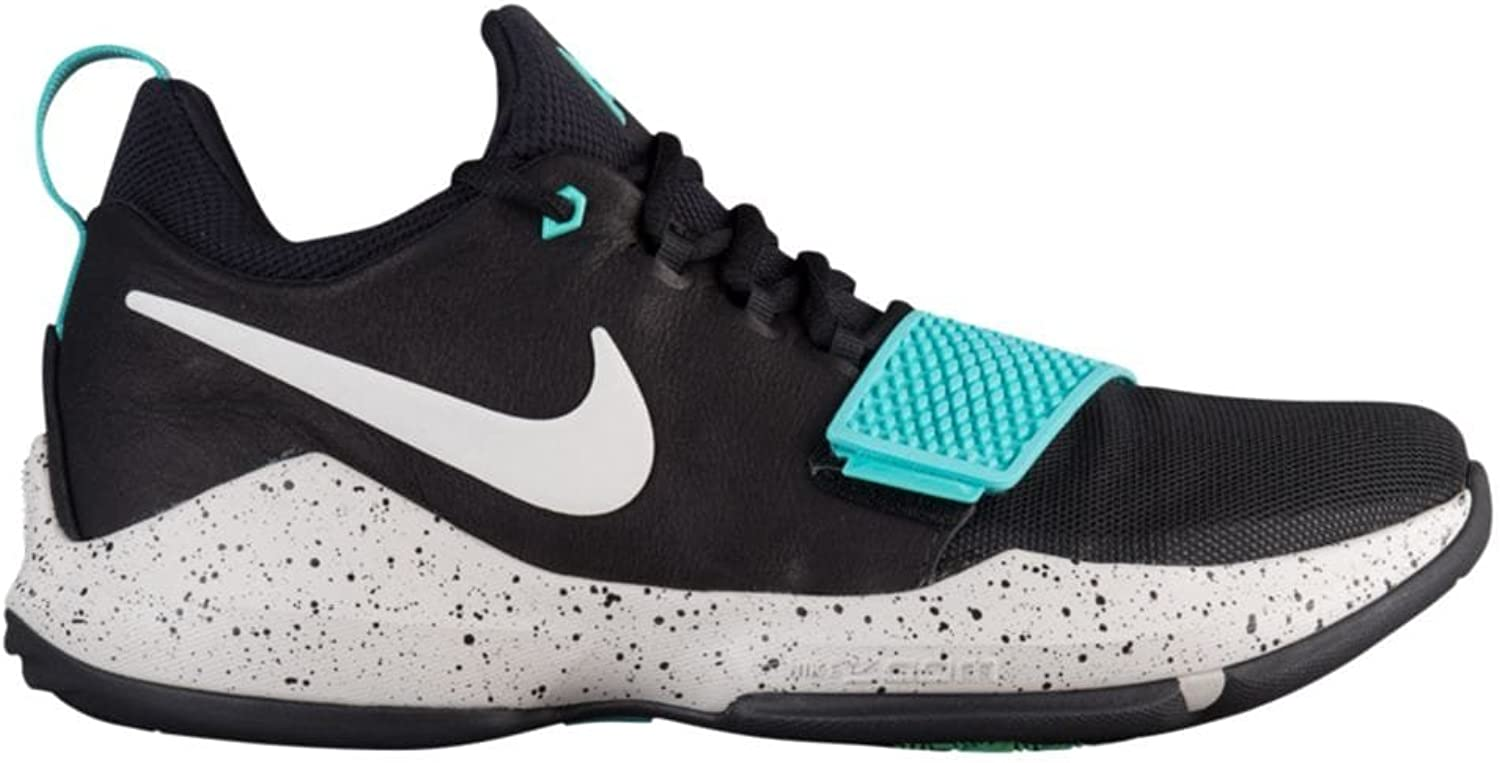 Nike Men's PG 1 Black Aqua Basketball shoes (9.5)