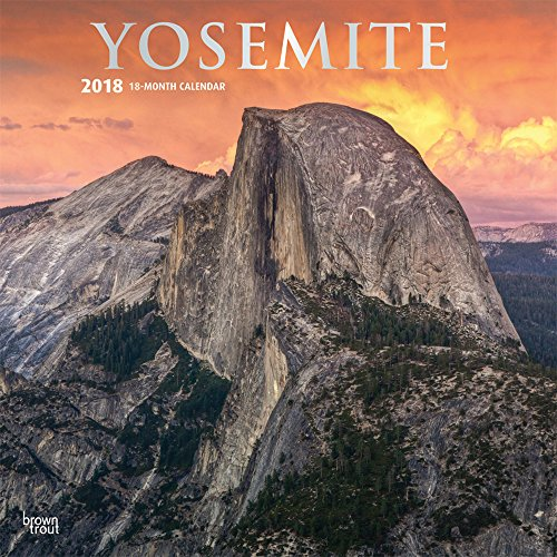Yosemite - Yosemite National Park 2018 - 18-Monatskalender mit freier TravelDays-App: Original Brown