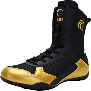 Men's Boxing Shoes High Top Fighting Squat Trainers Breathable Anti-Skid Indoor Gym Sneakers