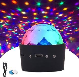 comprar comparacion ROVLAK Luces de Discoteca Mini Control de Voz Portátil USB 3 Colores RGB LED Efecto Estroboscópico Luz Nocturna Adecuado p...