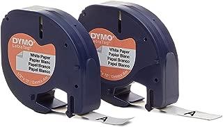 DYMO LT Paper Labels, Black Print on White Labels, 1/2-Inch x 13 Feet, 2 Rolls