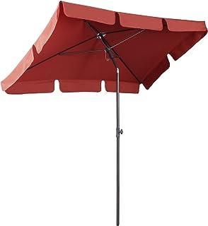 comprar comparacion Sekey® Sombrilla 200 x 125cm Parasole para Terraza Jardín Playa Balcón Piscina Patio , Protector Solar UV50+ , Color Rojo,...