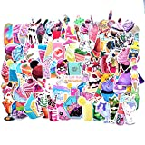 [ 72 Pack ] Girl Cute Lovely Food Laptop Stickers Water Bottle Skateboard Motorcycle Phone Bicycle Luggage Guitar Bike Hamburger Sticker Decal