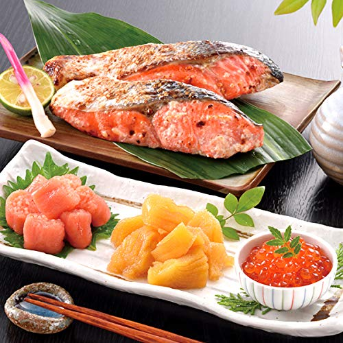 小樽海洋水産 紅鮭塩麹漬と魚卵3種詰合せ 北海道 サケ シャケ いくら イクラお取り寄せ