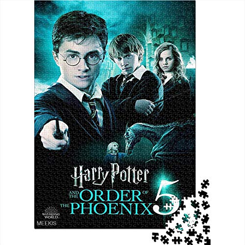 Puzzle adulto 1000 piezas Harry Potter and the Order of the Phoenix movie poster 1000 rompecabezas para adultos Juguetes de bricolaje de entretenimiento en casa para adolescentes 52x38CM(1000pcs)