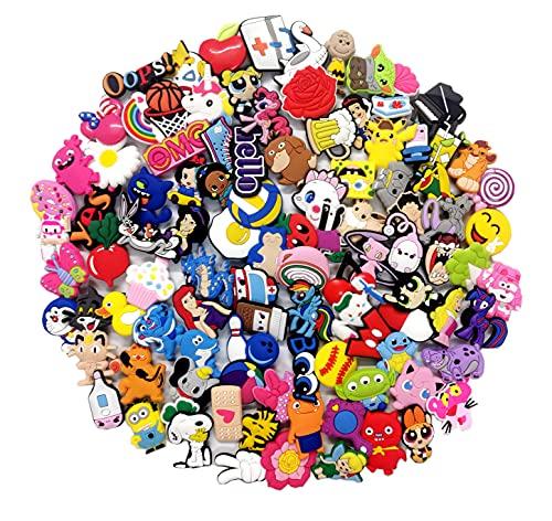 100 Pcs Different Shoe Charms for Shoes & Bracelet Wristband Kids Party...