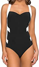JETS SWIMWEAR AUSTRALIA Classique Low Back One-Piece Black/White 10